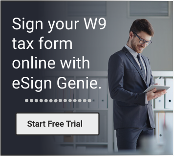 Sign Your W9 tax form online with eSign Genie: Start Your Free Trial