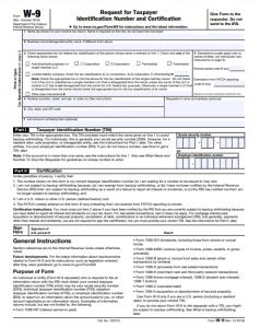 w9 tax form