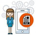 Sign pdf   sign pdf online vector img pdf