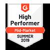 G2 High Performer Summer 2019 Award