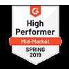 G2 high performer spring 2019 award