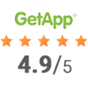 GetApp 4.9 out of 5 rating