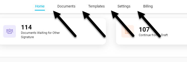 Screenshot displaying the UI header change
