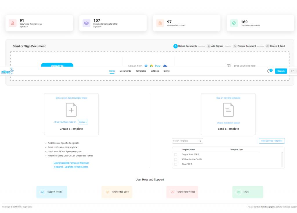 Screenshot showing the new user interface (UI)