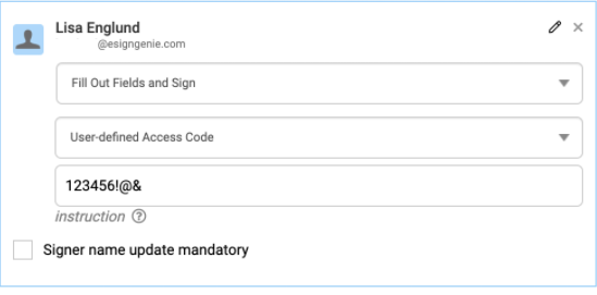 Create-access-code