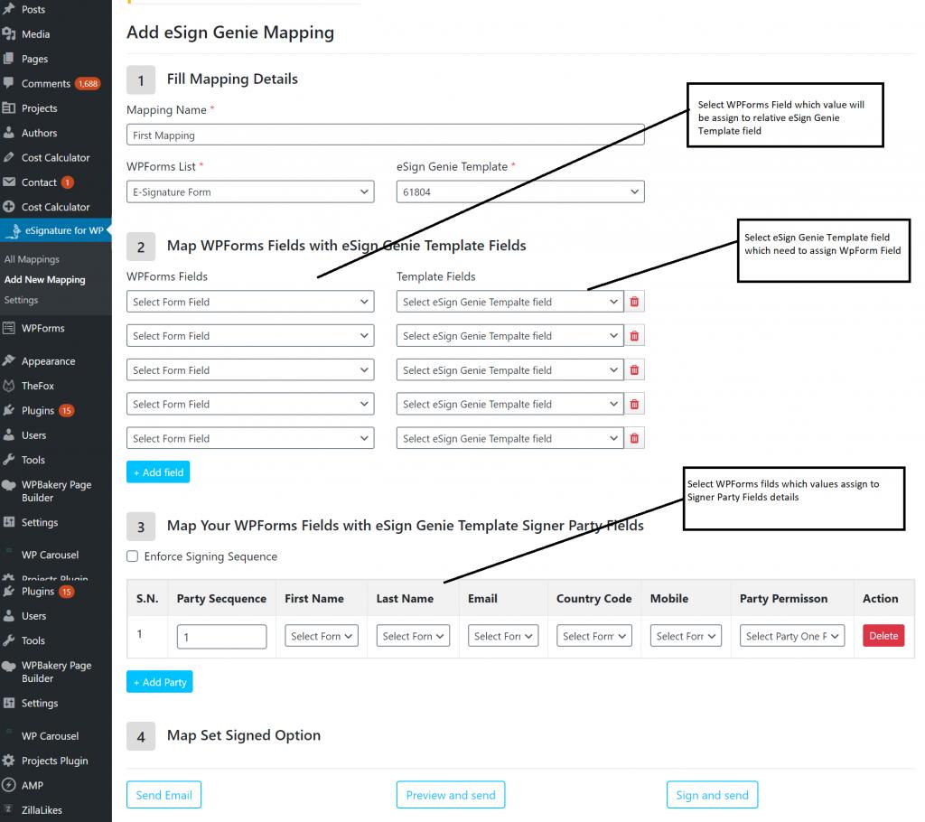 Digital signature WordPress Plugin src first