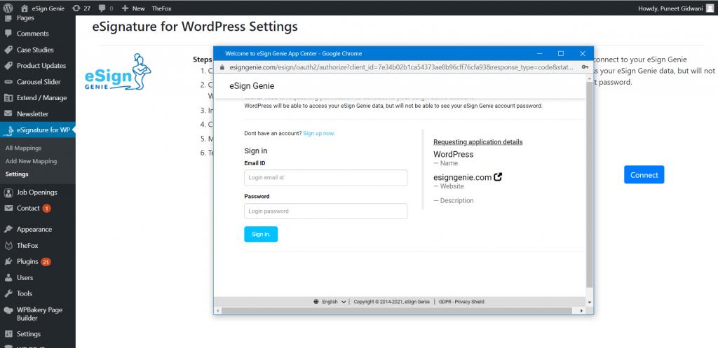 Screenshot displaying connection permission requiring login 3rd src