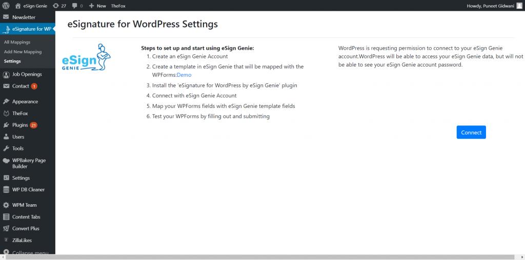 eSignature for wordpress plugin screenshot three
