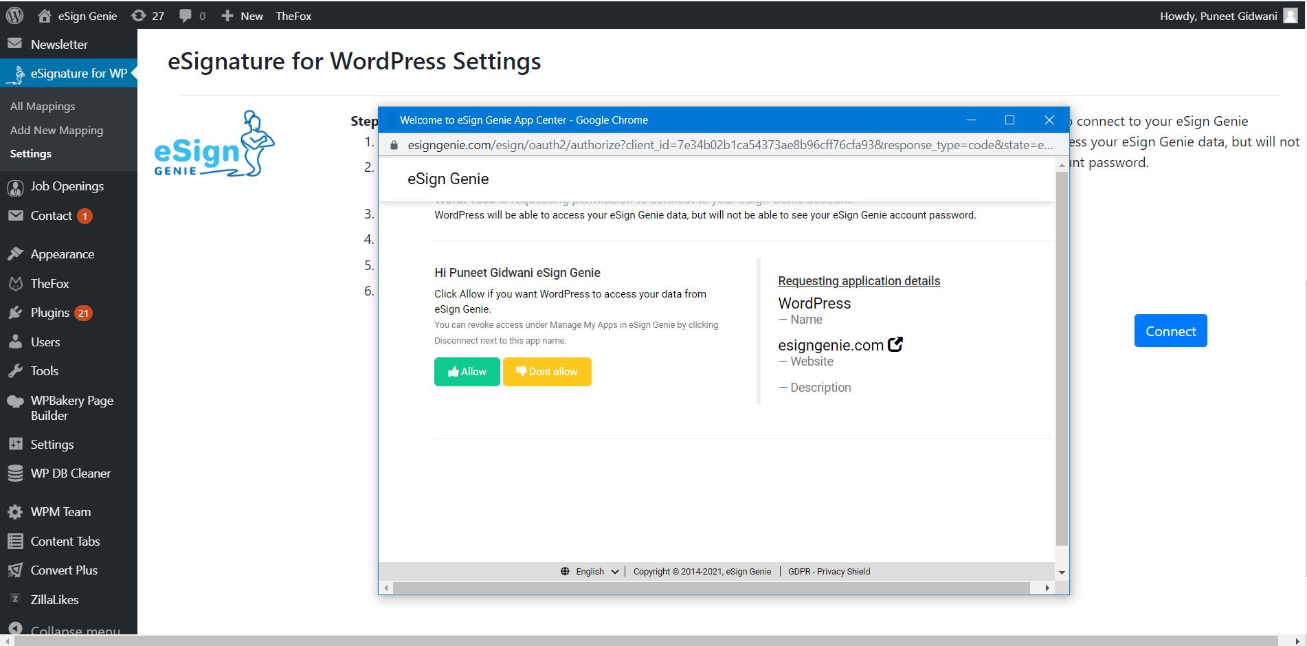eSignature for wordpress plugin screenshot four