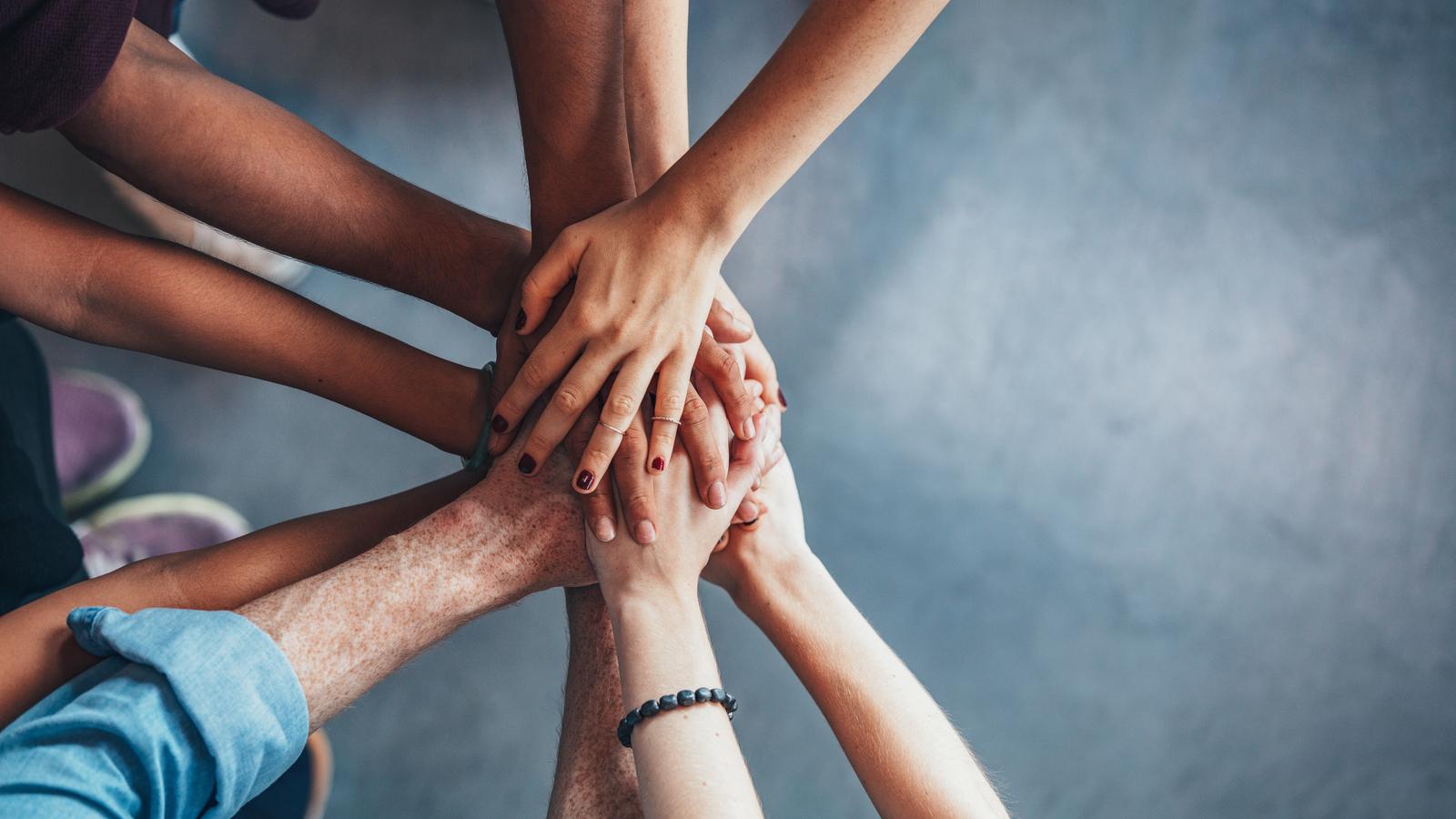Image of hands together